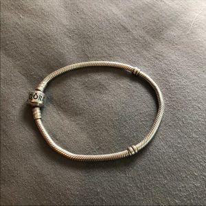 "7.5"" pandora moments snake chain bracelet"